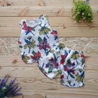 Best Piyama Baju Tidur anak Tanpa Lengan Celana Pendek Satin Import -