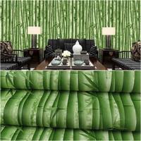 Grosir Murah Wallpaper Sticker Dinding Bambu Hijau Segar 10 M x 45 CM