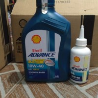 paket oli mesin + oli gardan merk shell for all motor matic