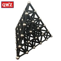 QWZ Black White Magnet Bars Metal Balls Magnetic Construction