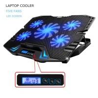 Cooling Pad Laptop 5 Fan - K5 - Black/Blue