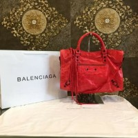 Bag Balenciaga City Merah