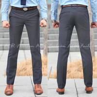 Celana Chino Reguler Standar Lurus Bahan Stretch / Melar