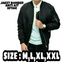 Jaket bomber M,L,XL,XXL anti air warna hitam