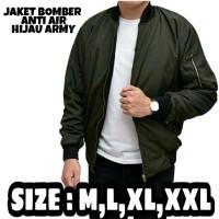 Jaket bomber M,L,XL,XXL anti air wame warna hijau army