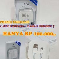 PROMO 1set cable iphone 7 plus Earpod iphone 7