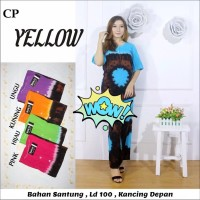 Babydoll Batik Yellow / Setelan Baju Tidur / Baju Tidur Wanita