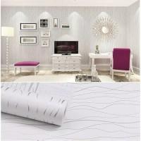 wallpaper dinding salur putih 45 cm x 10 m