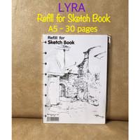 ATK0666LR Refill A5 Sketch Book Lyra 9211250 buku sketsa gambar