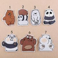 Iron patch we bare bears / bordir tempel grizzy panpan ice bear import