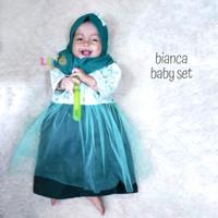 eLBi Bianca Baby Set - Baju Muslim Balita - Dress New Born Lucu 0-4bl