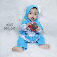 eLbi Ainda Baby Set - Baju Muslim Balita New Born Kekinian Size 0-4bln
