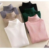 Turtle neck Cotton Knitted Polos