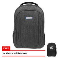 Tas Ransel Laptop Backpack Anti Air NavyClub - Abu-abu (gray)