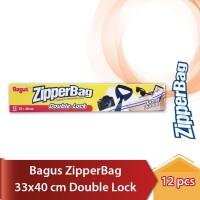 BAGUS ZipperBag 33x40cm 12's Kantong Ziplock Plastik Klip Zipper Bag