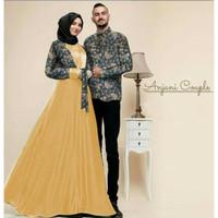 Baju Busana Muslim Gamis Couple Pria Wanita ARUMA