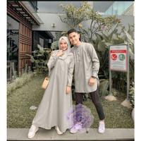 Baju Busana Muslim Gamis Couple Pria Wanita Sungkars