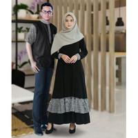 Baju Busana Muslim Gamis Couple Pria Wanita Senorita Mono
