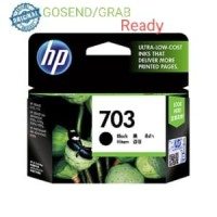 HP 703 ORIGINAL Catridge ink Black tinta Hitam D730 F735 K109 K209a
