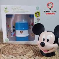 Gift Set Mickey Mouse Disney baby Botol Susu Dispenser Susu 3 in 1