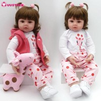 NPK Mainan Boneka Baby/Bayi Reborn Silikon 55Cm+Baju+Akte Lahir+Mainan