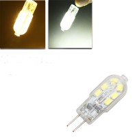 Top Brand G4 LED Bulb 1.5W 120lm 12 SMD Pure White/Warm White Corn