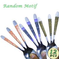 Sendok Makan Motif Batik Stainless Steel Spoon 12 pcs RANDOM