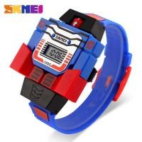 Jam Tangan Anak Digital SKMEI Transformer Robot Original - DG1095 Asli