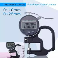 Alat Ukur Kulit Kertas film kabel 0-10/25mm Thickness Gauge 0.001mm