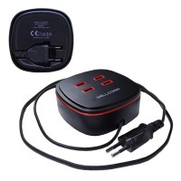 Wellcomm Travel Charger 4 USB ports 4.2A Black