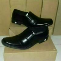 Sepatu fantofel pantofel vantofel pria kulit sintetis - Hitam, 39