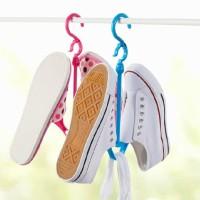 Shoe hanger gantungan jemuran sepatu sandal shoes,boneka serba guna