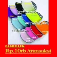 topi golf import anti UV double visor grosir distributor - hijau stabilo