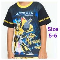 Kaos Pendek Anak Laki-laki Nevada Hitam Transformers Bumble bee