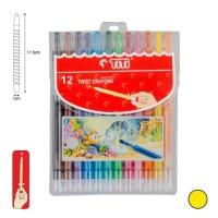 Crayon Putar TiTi TI-CP-12T / 12 Warna / Colors