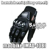 Sarung Tangan MADBIKE MAD-10B Batok Besi (Alloy steel)- Glove Mad Bike