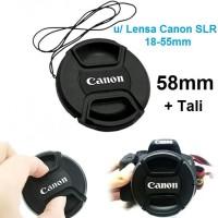 Tutup Lensa 58mm Canon EOS 1100D 1200D 1500D 750D SLR 18-55mm Lenscap