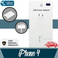 Aldora Charger IPhone 4 Usb Premium Quality - Putih