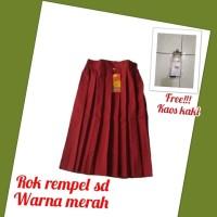 rok rempel pendek warna merah anak sekolah sd