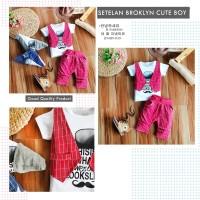 Baju Setelan Kaos Rompi Vest Anak Laki-laki 2-4 Tahun Import Murah