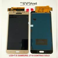 LCD SAMSUNG J710 CONTRAS GOLD+T/S (GALAXY J7 2016)