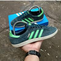 Sepatu Adidas Samba Black Green