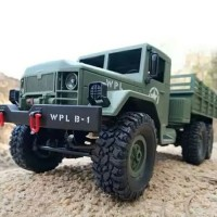 RC WPL B16 6WD 2 4GHZ MILITARY TRUCK MOBIL REMOTE MILITER 6 RODA Maina