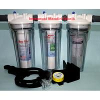 "Paket Filter Air 3 Tahap Clear 10 "" / Sediment - Sediment - CTO Carbon"