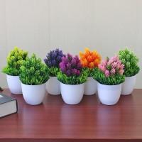 PROMO 💥 TK 💥 Pot Tanaman Hias Dekorasi Bunga Bonsai Palsu Untuk