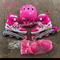 sepatu roda anak / inline skate fullset Dekker (bisa set model BAJAJ)