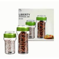 Liberty Storage Jar Oxone OX-303 / Toples Kue Kering / Toples Kaca