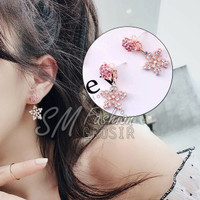 Anting Wanita Fashion Import Korea Love Star Lucu Blink Full Mutiara