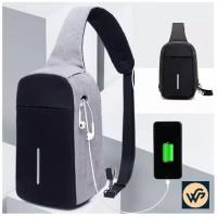 Tas Selempang Anti Maling Anti Air / Tas Slempang Smart Cross Body bag