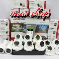 paket CCTV 12 Camera Dan DVR 16 CHANNEL FULLSET HIKVISION 2mp1080p ORI
